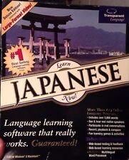 """""""Learn Japanese Now"""" Cd-Rom by """"Transparent Languages"""" New Sealed! A71"""