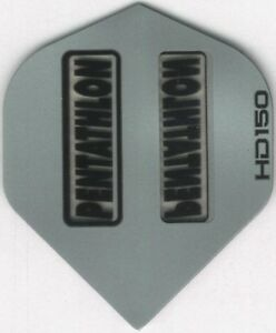 Silver PENTATHLON HD150 Dart Flights: 3 per set