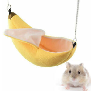 Pet Hamster Banana Hammock Swing Squirrel Parrot Hanging Bed House Cage Nest Toy