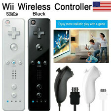 Wireless Remote Controller Nunchuck Built-in Motion For Nintendo Game Wii&Wii U