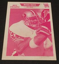 MICHAEL WALTER 1989 Pro Set ERROR Magenta TEST PROOF #386 Variation RARE 49ers