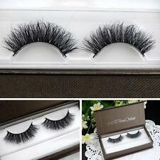 1 Pair 100% Handmade Thick Real 3D Strip Mink Fur Long False Eyelash Makeup New