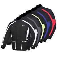 Men's Motorcycle Motorbike Jacket Waterproof Textile With CE Armoured 5 Colours