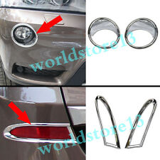 Chrome Front + Rear Fog Light Cover Trim 4pcs For BMW X3 F25 2011 2012 2013 2014