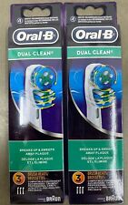 6 NEW Pack Braun Oral B Dual Clean Toothbrush Replacement Heads 6 PCS USA