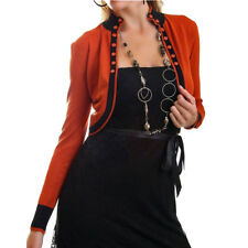 Bolero Business Veste Blouson Tricot Veste manches longues marron orange-Rouille Argile taille 36