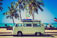 Leinwandbild, 100x70cm, VW Bus, Brazil, Wandbild, 16isa Leinwandbilder