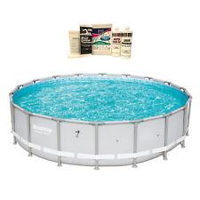 "Bestway 18' x 48"" Power Steel Frame Above Ground Outdoor Pool & Winterizing Kit"