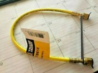 """BV12 R134a Mastercool Refrigeration Hose 10/' or 120/"""" Yellow CPS Ball Valve"""