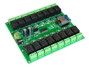 WIFI 16 Channel Electromagnetic Relay ESP8266 Module Smart HOME Controller