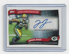 2010 PACKERS James Jones signed card AUTO Topps Performance PPA-JJ Autographed
