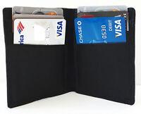Black Mens Genuine Leather Bifold Wallet Front Pocket 6 Card Holder
