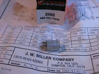 Miller 2062 Coil Tunable Core Transformer 455KHz IF 30K-500 Ohms - NOS Qty 1
