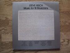 "LP - STEVE REICH - MUSIC FOR 18 MUSICIANS  ""TOPZUSTAND!"""