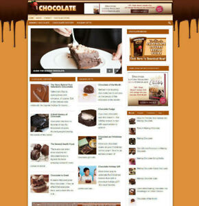 CHOCOLATE LOVERS WEBSITE + AFFILIATES + FREE DOMAIN AND HOSTING