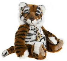 Konig by Charlie Bears - jointed plush collectable tiger teddy bear - CB202051