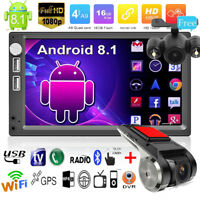 "7"" Android 8.1 Car Stereo Radio FM/MP5 Player GPS WIFI +Car DVR+Rearview Camera"