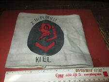 WWII GERMAN NAVAL HARD HAT DIVER ARM BAND 1ST U-BOAT FLOTILLA KIEL