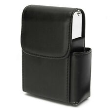 Cigarette Case PU Leather Holder Pouch Pocket Wallet with Lighter Compartment