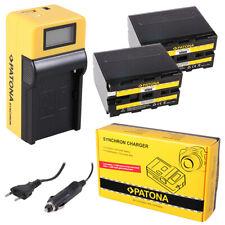 2x Batteria Patona + caricabatteria Synchron LCD USB per Sony HDV Z1,HVL-20DW