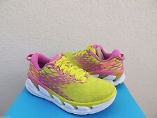 HOKA ONE ONE VANQUISH 2 ACID/ FUSHIA RUNNING SHOES,  WOMENS US 7/ EUR 38 2/3 NEW