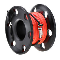 Scuba Diving Finger Spool Reel with Stainless Steel Snap Bolt 50M/164ft
