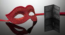 original venezianische Maske Karneval, Maskenball, Augenmaske Handmade Rot