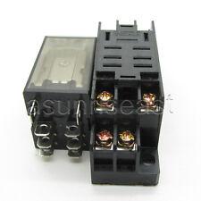 DC12V Coil Power Relay 10A DPDT LY2NJ HH62P HHC68A-2Z With Socket Base