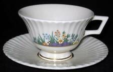 Lenox RUTLEDGE, P303  Enameled Flowers, Footed Cup & Saucer Set