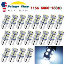 20x 1156 BA15S Cool White 13-SMD LED Light Bulbs For Car Brake Tail Stop 1141