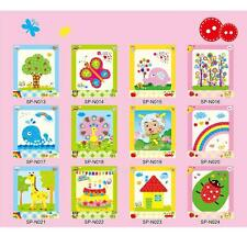 Kids Child DIY Button Stickers Picture Handmade Painting Drawing Craft Kit