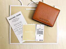 NWT Michael Kors Studio Mercer Leather Carryall Card Case Wallet in Orange