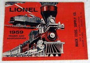 Original Lionel 1959 Trains and Accessories Catalog