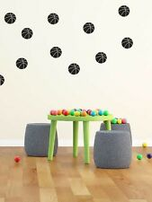 Basketball decal wall stickers . Set of 24 Wall Decals 65mm high
