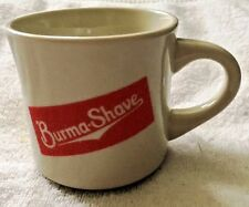 Burma Shave Mug Vintage Excellent Condition Does not Look Used