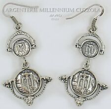 ORECCHINI MONETE ARGENTO 800 MAGNA GRECIA SILVER COIN EARRINGS BOUCLES D'OREILLE