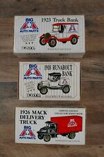 BUNDLE OF 3 ERTL Big A Auto Parts Truck COIN Bank 1:25 Diecast  NEW OLD STOCK