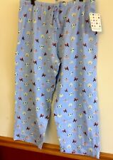 Clearance Priced Boston Terrier In Glasses Pajama Bottom Size Large And Medium