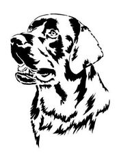 STENCILS CRAFTS TEMPLATES SCRAPBOOKING LABRADOR DOG HEAD  STENCIL  A4 MYLAR