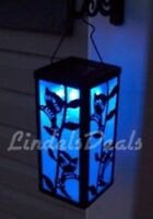 Solar Hanging Lantern Hummingbird ,Color Changing or White Light