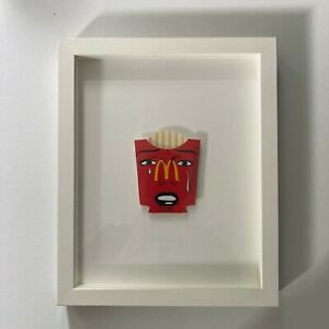 Ben Frost Painted Mcdonalds Fry Packet - Framed 2015 - Happy Land