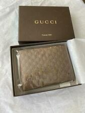 Gucci Men's Brown Leather GG MicroGuccissima Bifold Wallet  278596