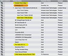 Anthology II, TC VSS3, Virus Indigo & more TDM PlugIns + ProTools HD 7.3 on iLok