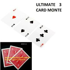 ULTIMATE 3 CARD MONTE GIMMICK CHASE THE ACE RED BACK CARDS NEW EASY MAGIC TRICK
