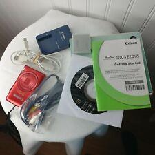 Canon Power Shot Elph 300Hs Digital Camera Red 12.1 Mega Pixels Accessories Box