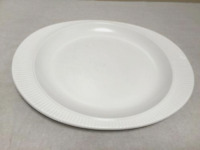 Modernist Rosenthal Flammest Ribbed White Cook Ware Dinner Plate
