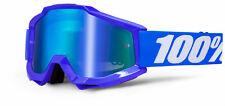 100% MASCHERINA OCCHIALE ACCURI REFLEX BLUE BLU BIANCO MOTO CROSS ENDURO GOGGLE