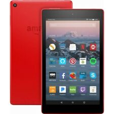 """New Amazon Fire HD 8 Tablet with Alexa, 8"""" HD Display, 16 GB, Punch Red"""
