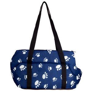 Paw Print Pet Carrier Purse Tote Portable Dog Puppy Travel Shoulder Bag Handbag