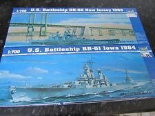 TRUMPETER - USS NEW JERSEY BB-62 1983 & USS IOWA BB-61 1984. SCALE 1:700.